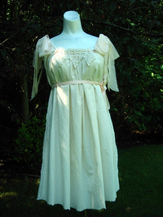 Victorian Cupcake Dress, Lily Pad, Ripped, Torn, Shabby, Wedding