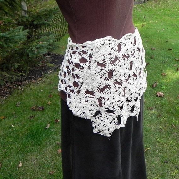 Victorian Lace Overskirt, Capelet,  Tie On Lace Overskirt Skirt, Bustle, Vintage Crochet,  Marie Antoinette
