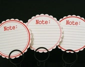 Scallop Note Journaling Spots Red