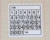 Never Forget Square Scallop Calendar Blocks