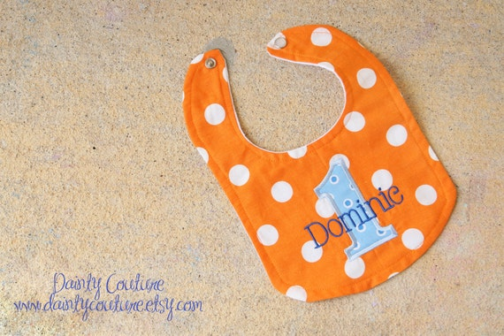 Boys First Birthday Party Bib