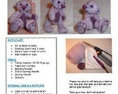 Needle felt a Teddy Bear - pattern - step by step directions with lots of color photos