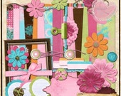 Joy Michelle Digital Scrapbook Kit  DOWNLOADABLE ONLY