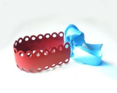 Red leather headband/belt