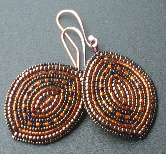 Toasted copper earrings