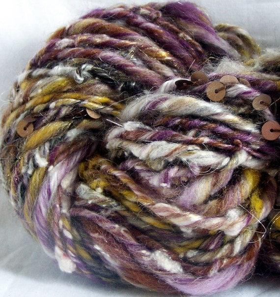 FALLING LEAVES handspun novelty yarn