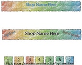 Two Piece Banner and Avatar Set For Your Etsy Shop, Light Water Colors