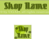 Retro Green Banner and Avatar Set for Your Etsy Shop