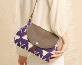 NOMAD Collection - Hazel Bag - Leather & Obi Purse - ikat