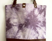 SITKA Collection -  Canvas & Leather Naturally Dyed Bag, Logwood Tie Dye