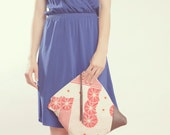 NOMAD Collection - STELLA Leather & Kimono Clutch vintage floral