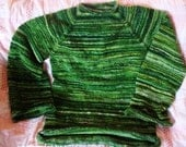 Ladies sweater, Handspun, handknitted, One of a kind.