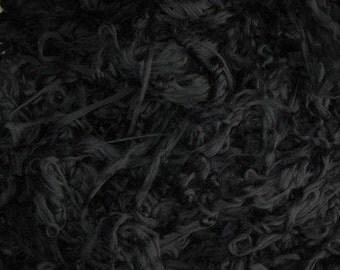 Feltable Merino Roving 4 Ounces Blackest Black