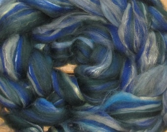 Superwash Merino, Bamboo, Soysilk,  blend  Midnight in the Valley, 4 Oz