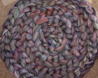 Superwash Merino Soysilk  Firestar Seacell Silk Bamboo blend, -4 Oz - Dark Sweetness