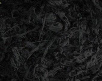 SALE Superwash Roving 4 Ounces Blackest Black