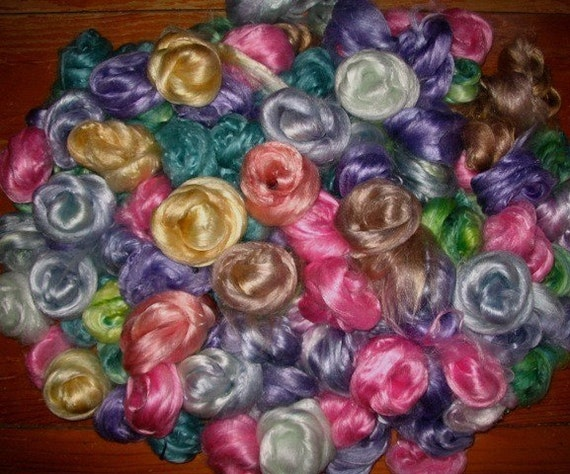 Bamboo roving, hand-dyed, 2 ounces
