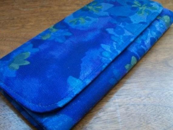 Vintage Blue Envelope Clutch- Sale