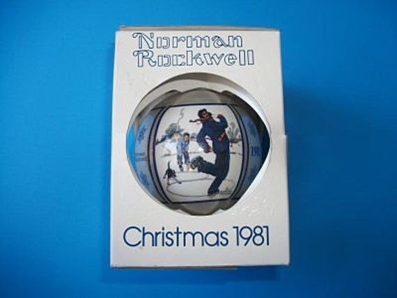 Gay Blades Vintage 1981 Norman Rockwell Christmas Tree Ornament- New Old Stock