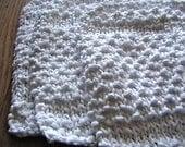 White Eco-Friendly Wash Cloths TRIO- Cotton