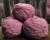 Purple Fluff Acrylic and Wool RECLAIMED Yarn