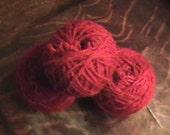 Dark Red RECLAIMED Yarn - Wool Blend