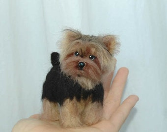 One Of A Kind OOAK Custom Needle Felted likeness of your dog, cat, pet portrait soft sculpture  Husky, Yorkie, mutt or any pet