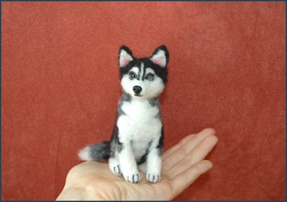 husky yorkie items similar to one of a kind ooak custom needle felted 123