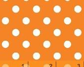 1 Fat quarter Windham Basic Brights Fabric - Dots Orange Pumpkin