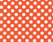 TA DOT   Tangerine  Polka Dots by Michael Miller Fabrics by the Yard, Designer Fabric