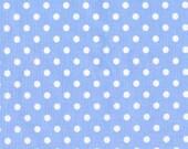 Michael Miller Fabric  Dumb Dot Sky Blue  Polka Dots, Designer Fabric