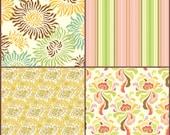 Freshcut  by Heather Bailey, Free Spirit Designer Fabric, 1/2 yard of each, 2 yards, SALE