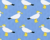 It's a Shore Thing Fabric by Dear Stella,  Seagulls Blue,   Designer Fabric, Sale