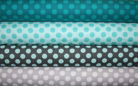 4 Fat Quarters Ta Dot  Polka Dot  Fabric by Michael Miller Designer Fabric