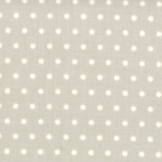 Vintage Modern  by Bonnie and Camille  Dots Pebble Grey  Moda Designer Fabrics by the Yard