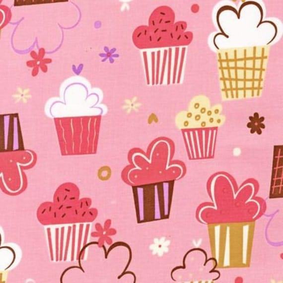 Confections Cupcakes Blush Pink Amy Schimler, Designer Fabric, 1/3 yard