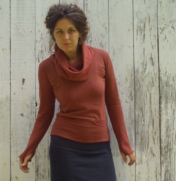 ORGANIC Darjeeling Shirt ( organic hemp and cotton fleece ) - organic hemp shirt
