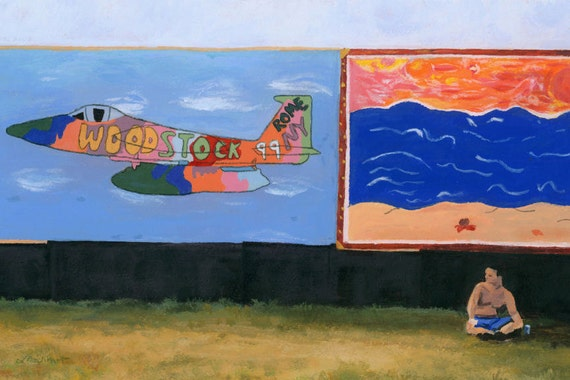 Woodstock '99 Revisited Rome, NY painting Giclee Reproduction 8x12