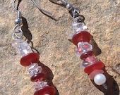My Heart On A String -  Beaded Wire Earrings