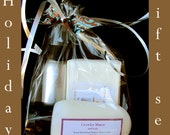 Goat milk soap Gift Set  Soap, Shea Lotion and Body Mist  - Save