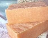 Peach & Tangerine goat milk  soap - a little sunshine in the shower