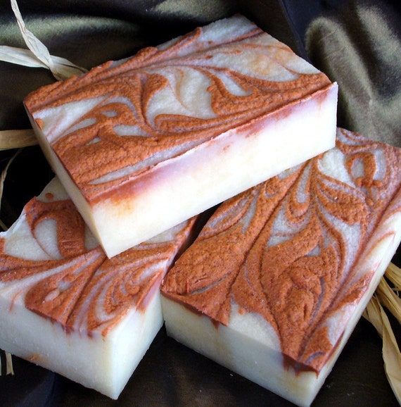 Apple Peach Cold process soap - 5 oz - like walking through orchards