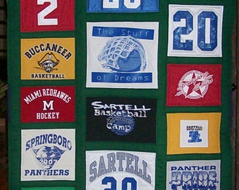Custom T-shirt Quilt made with your 22 t-shirts