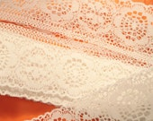 2 inch wide white lace10 ft. destash .. craft and sewing supplies