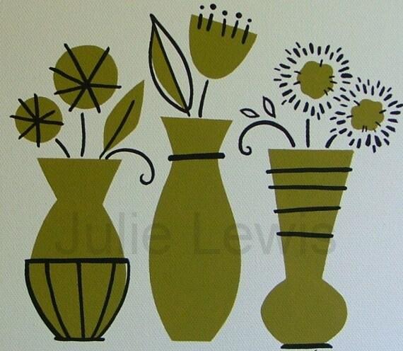 Funky Flowers  acrylic on canvas