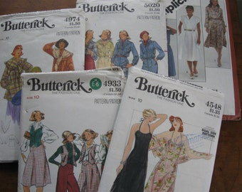 1 Simplicity/4 Butterick 1970s Patterns