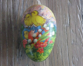 Vintage Decoupage Easter Egg Made in Germany 2