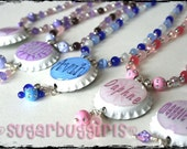 Personalized Bottlecap Necklace  -- Reserve for Donna