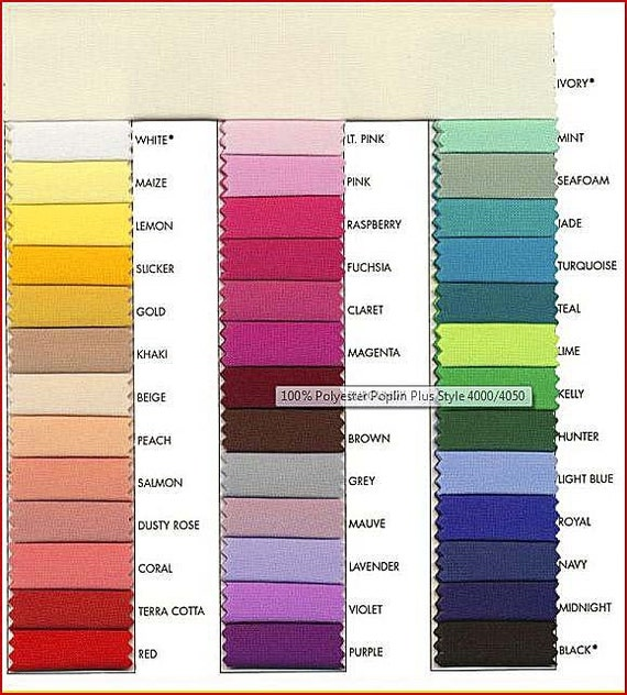 poplin plus fabric 1 yard choice of color from chart