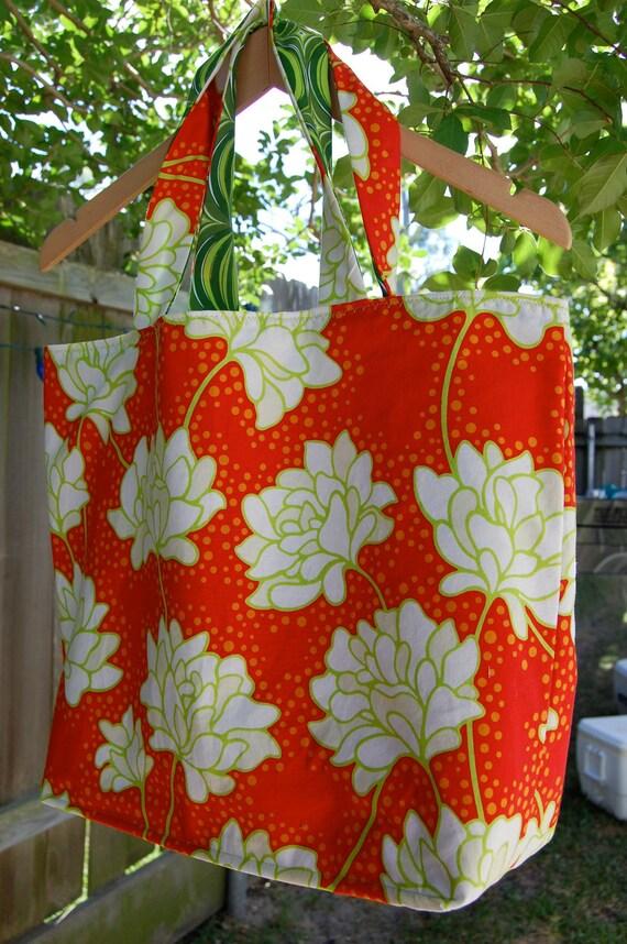 Heather Bailey Pop Garden Peonies Tote Bag